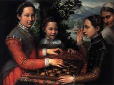 Photo Print Portrait of the Artist's Sisters Playing Chess Anguissola Sofonisba