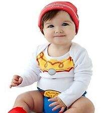 JeSSiE~CuDDlY~BODYSUIT+ReD HaT~NWT~Infant 0-24M~Costume~Disney Store~Toy Story