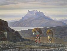 A4+ Size Print:Kent Rockwell Woman Work. South Greenland #jwnh2575-1218