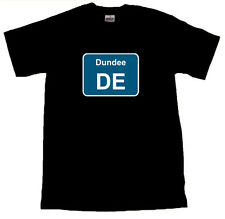 Dundee Train Depot Sign Black T-SHIRT ALL SIZES