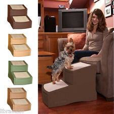 Easy Step Ii 2 Two Steps Pet Dog Cat Bed Stairs Chocolate Sage Tan New