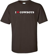I HEART COWBOYS Cool American Western Icon Gaucho Rancher LOVE T-Shirt