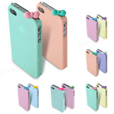 Fashion Glossy Hard Skin Case Cover Back Shell for iPhone 4 4G 4S + Cute Bow Cap