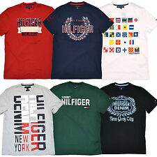 Tommy Hilfiger Mens T Shirts Lot of 5 Graphic Tees All Colors Sizes Logo P064