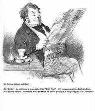 Photo/Poster - Un Amour Propre Satisfait - Honore Daumier 1847 1856