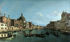 Photo/Poster - The Grand Canal Withs Simeone Piccolo - Canaletto 1697 1768