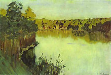 Photo/Poster - Sunset Over Forest Lake - Levitan Isaac