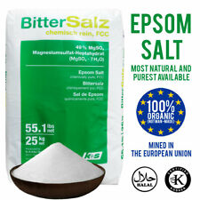 Epsom Salts BP FCC Food Grade 100g 500g 1KG 2KG 5KG 10KG 15KG 20KG 25KG Bath