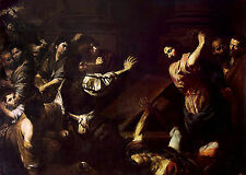 Art Photo Print - Expulsion Of The Money Changers From Temple - Valentin De Boul