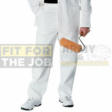 Painters Trousers Work Pants White Cotton Decorating Decorate Reinforced Mens