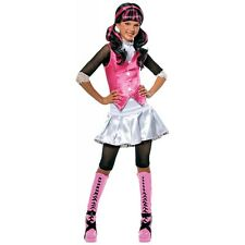 Draculaura Costume Kids Monster High Girls Vampire Halloween Fancy Dress