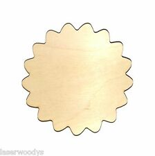 Medallion Unfinished Flat Wood Shapes Cut Outs M808 Variety Sizes Laser Crafts