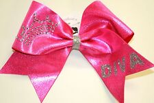 Rhinestone Crown DIVA XWide Cheer Cheerleading Bow Competition CUSTOMIZE Sparkle
