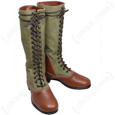WW2 Repro DAK Tropical TALL BOOTS - All Sizes - Leather German Afrika Korps Army