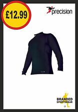 Precision Thermal Base Layer Turtle Neck Top Black Kids Age 5/6 7/9 10/12 SALE!