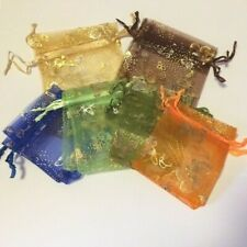 10 / 20 /100 pieces Butterfly Organza Gift Bags 70x90mm / 7x9cm / 2.7x3.5 inch