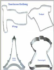 Charcoal grill - Eiffel tower - T-shirt - Flag -  cookie cutter