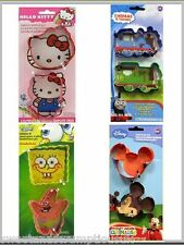 Cookie cutter Hello Kitty Thomas Tank Mickey Mouse Sponge bob SET OF 2 cutters