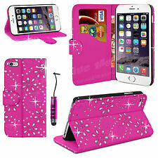 NEW LEATHER FLIP WALLET CASE COVER FOR iPHONE 4 4S FREE SCREEN PROTECTOR