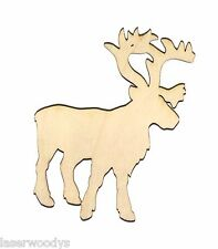 Santa Reindeer Unfinished Flat Wood Shapes Cut Outs SD8030 Variety Szs Crafts