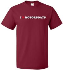 I HEART MOTORBOATS Cool Engine Powered Boat LOVE T-Shirt