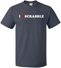 I HEART SCRABBLE Cool Classic Board Game Word Vocabulary LOVE T-Shirt