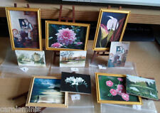 DOLLSHOUSE-2 PIECES OF EXCLUSIVE ARTWORK/PAINTINGS + EASEL