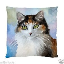 Throw Pillow or Cushion Case Cat 572 Calico from art painting L.Dumas