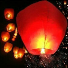 5PCS 10PCS Paper Floating Lantern Chinese Sky Flying Party Festival Wedding New