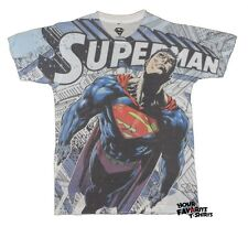 Superman Man Of Steel All Over DC Comics Licensed Adult Shirt S-XXL