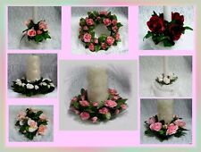 Wedding Unity Candle Rose - Center Piece Candle Rings