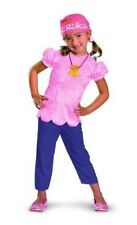 Toddler Girls Child Disney Jake The Neverland Pirates Pink Izzy Costume Outfit