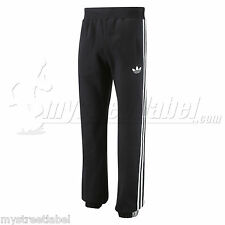 ADIDAS ORIGINALS SIZE S M L XL SPO FLEECE TRACK PANT BOTTOMS BLACK/GREY X50344