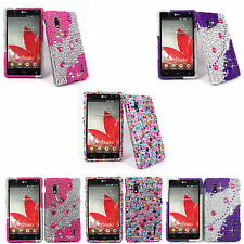 For Lg Optimus G E970 At&t Color Diamond Bling Jewel Hard Case Cover Accessory