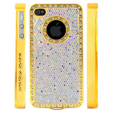Gem Crystal Rhinestone White Shimmer Glitter Case For Apple iPhone 4 4S 4G