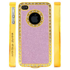 Apple iPhone 4 4S Gem Crystal Rhinestone Light Pink Shimmer Glitter Plastic case