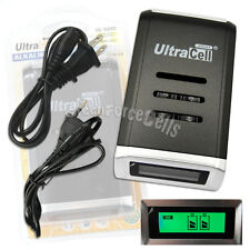 AA AAA 2A 3A Alkaline NiMH NiCd Quick Fast LCD Display battery charger Ultracell