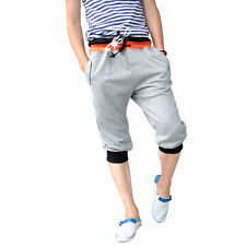 Mens Casual Gym Cool Sport Rope Shorts Pants Jogging Cropped Trousers S-2XL Q156