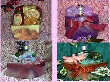 Candle Bath And Body Spa Gift Set Baskets
