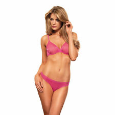 NEW GOSSARD RASPBERRY PINK GLOSSIES THONG XSMALL UK 8-10