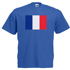 France French Flag Adults Mens T Shirt 12 Colours  Size S - 3XL