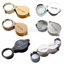New 10X 20X 30X-21mm Jewellery Loupe Eye Glass Magnifying Magnifier Lens Folding