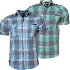 New mens DISSIDENT 1H-2229 casual short sleeve check shirt S,M,L & XL