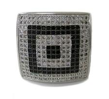Mens MEGA CHUNKY Micropave A Class HipHop Bling Ring