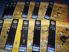 2012/13 - NEWPORT COUNTY HOME PROGRAMMES SELECT FROM