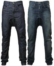 Mens EMP Rome drop crotch carrot/slim fit denim jeans