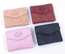 Buxton Genuine Leather Womens Small Mini Trifold Wallet Small Heiress New