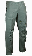 Mens Prewashed Pilot Olive Green Trousers All Sizes Pants Flight Combat Cargo