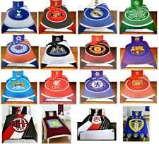 OFFICAL FOOTBALL CLUB TEAM - SINGLE BED DUVET COVER & PILLOW SET - GIFT XMAS NEW