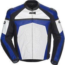 Cortech Adrenaline Leather Jacket Blue